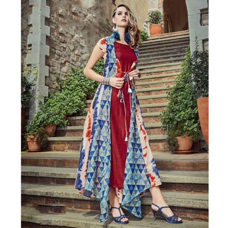 Cotton Multicolor Printed Aline Style Kurti #womensfashion #printedkurtis #alinekurti #cottonkurtis #kurtis #fashion #style #blogger #kurtis