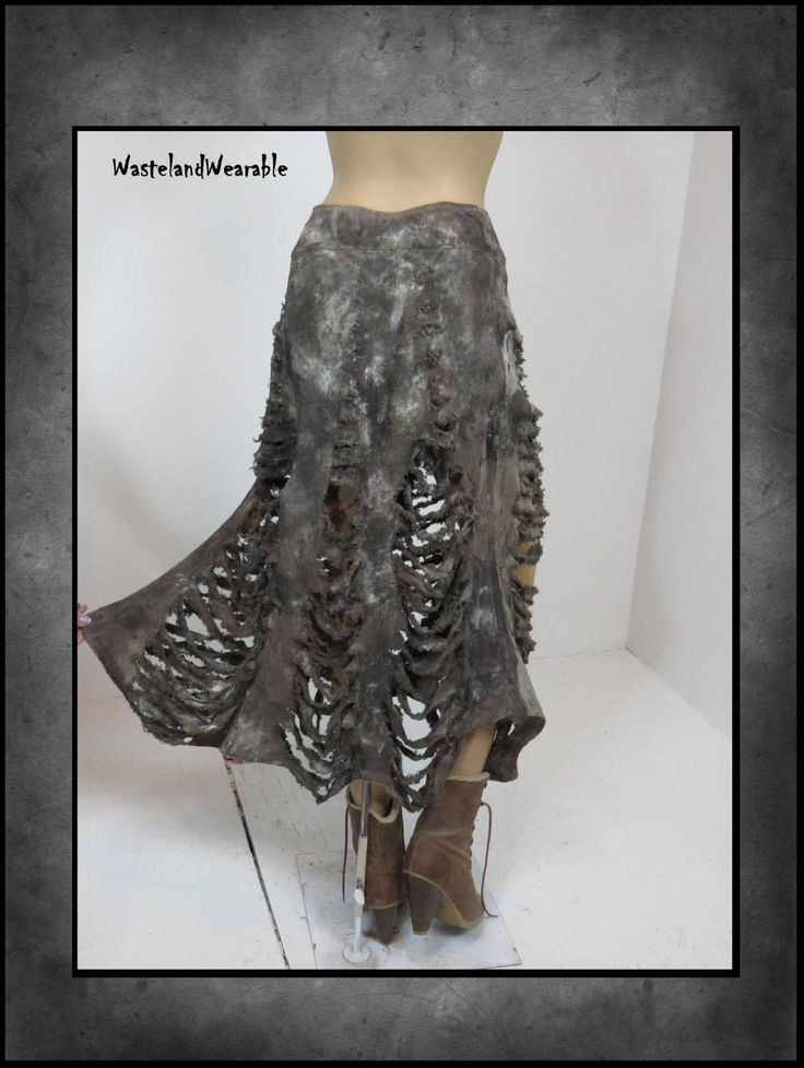 Post APOCALYPTiC SKIRT Fallout Skirt Mad Max BROWN SKELETON Skirt Wasteland Zombie Skirt Size 6 Apocalyptic Clothing  by WastelandWearable by WastelandWearable on Etsy