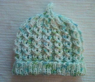 Newborn Baby Hat Pattern – Easy Mock Cables;  My new niece will be born at the end of January!  So excited!
