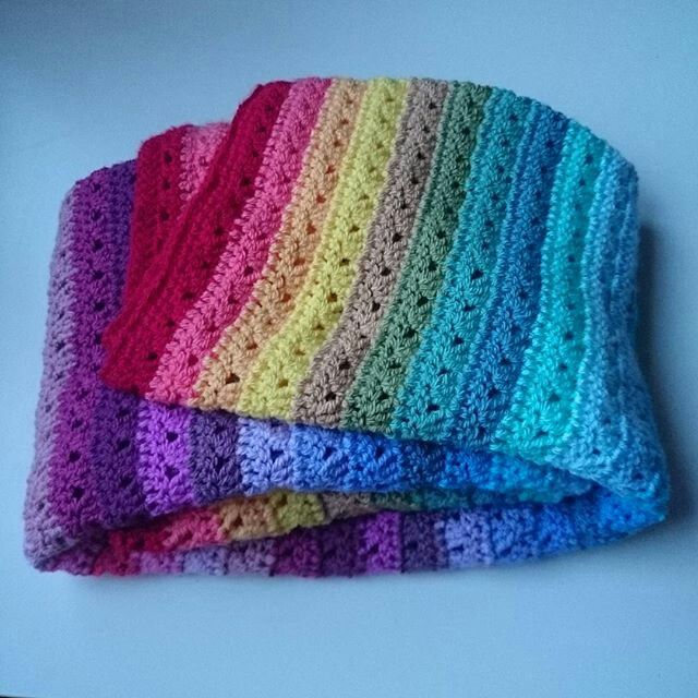 Double rainbow blanket for a very special double rainbow baby