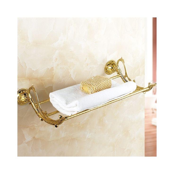 浴室タオルラック タオル掛け タオル収納 ハンガー バス用品 真鍮製 金色