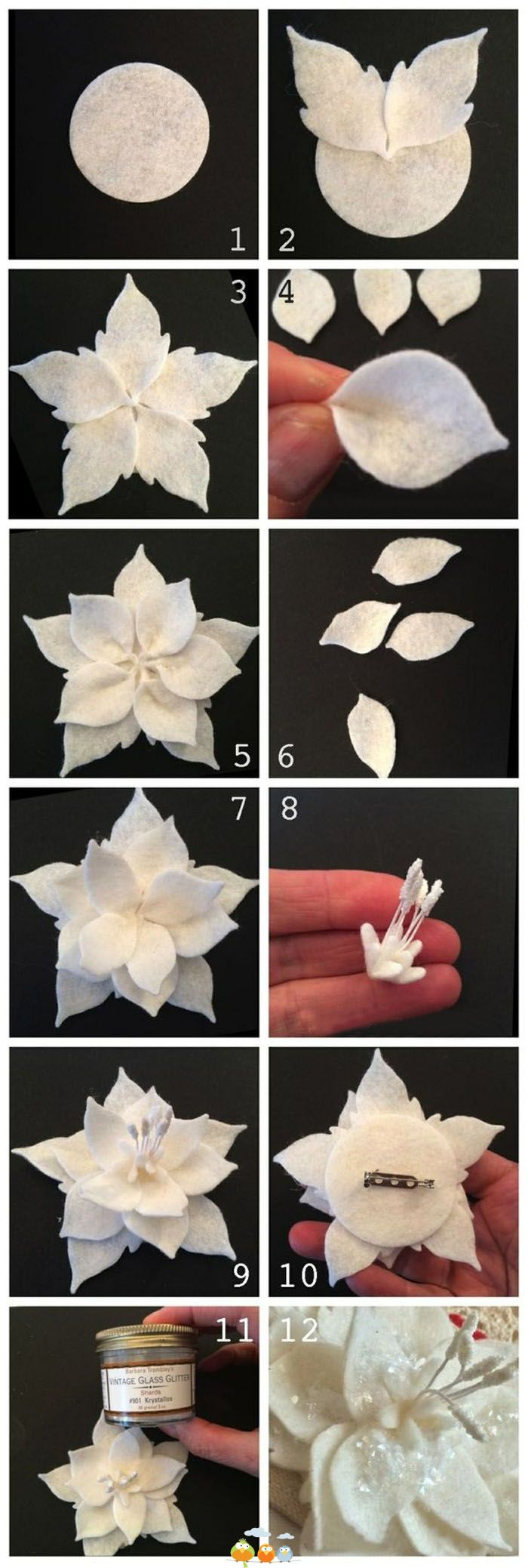 How to: Simple Felt Flower
