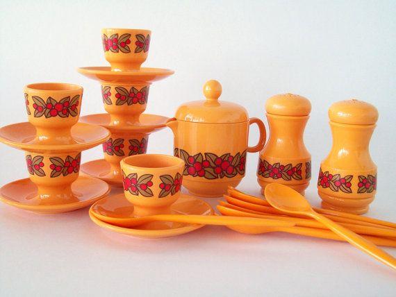 West Germany Emsa Breakfast Set by Eight Mile Vintage on Etsy