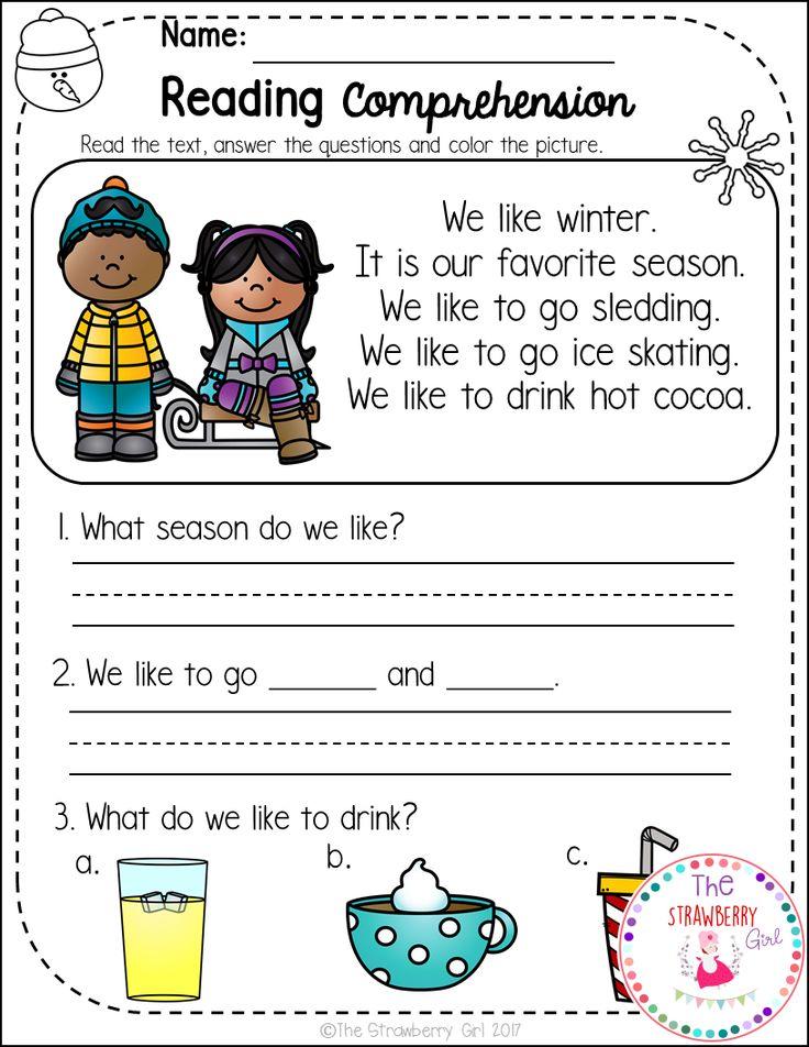 Kindergarten Reading Comprehension Free Worksheets