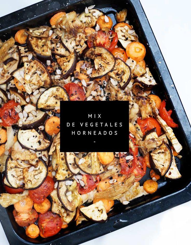 Mix de vegetales al horno con especias, ajo y aceite de oliva ¡deliciosos!