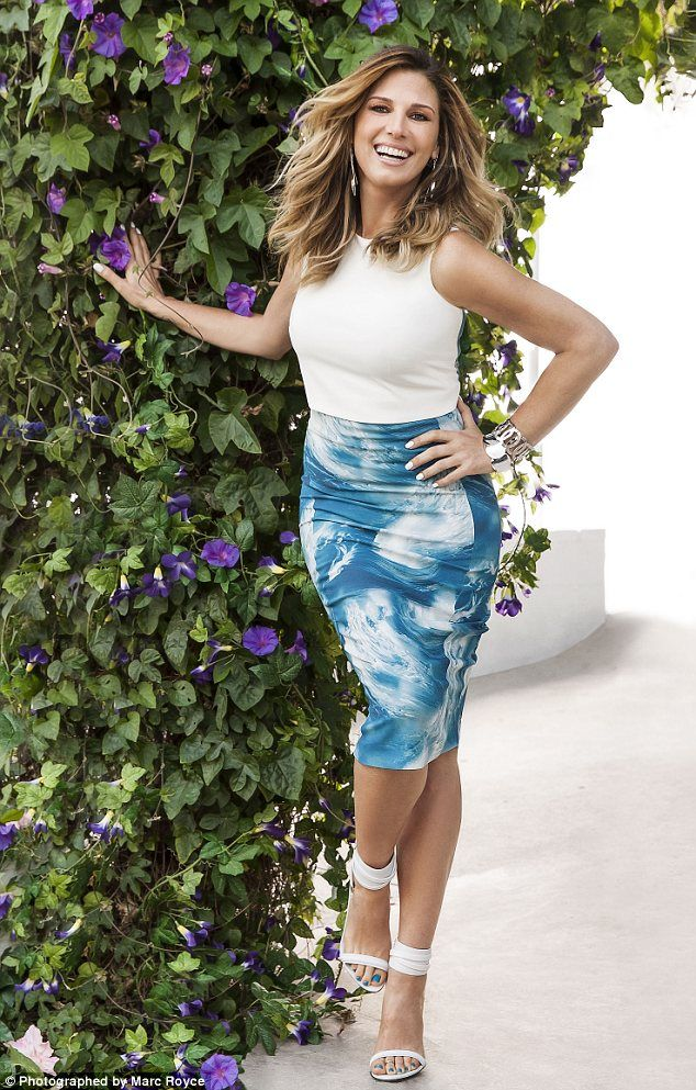 Killer curves: Daisy Fuentes, 47, the Latina TV host with a hugely successful clothing line at Kohl's, opts for a Sportmax outfit but teams it with her own label jewelery