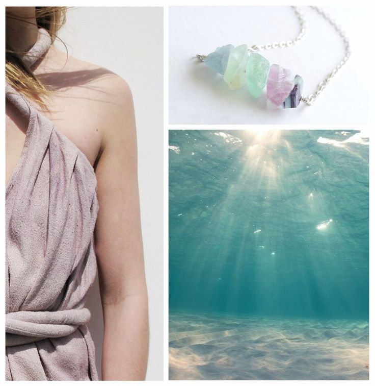 Rainbow fluorite design necklace. Handmade stylish designer jewelry from Hungary. http://www.facebook.com/urshastylenow