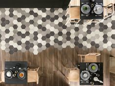 hexagonal floor tiles bleeding into wood - Google Search