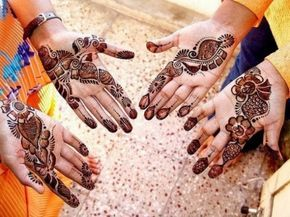 Stylish & Colorful Eid-Ul-Azha Mehndi Design 2014 for Girls