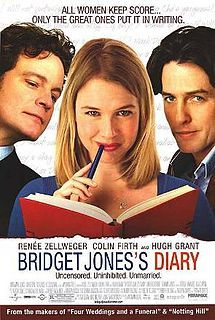 Bridget Jones Diary. Brilliant! #Movies - Love this movie. The ending scene when she is running through the streets looking for him -they kiss - the music playing is Van Morrison - Someone Like You - my husband Alan & I danced to this song at our wedding.