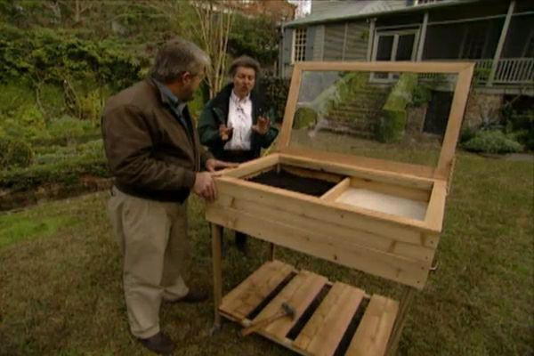 Learn how to build a cold frame for your plant cuttings; watch a video of techniques for building the frame; includes tips, materials, and tools lists.