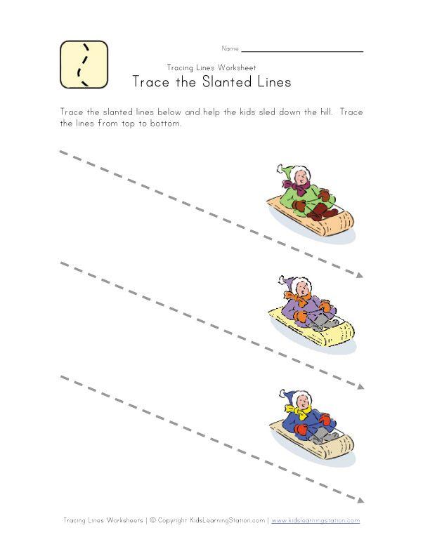 tracing diagonal lines pinterest worksheets. Black Bedroom Furniture Sets. Home Design Ideas