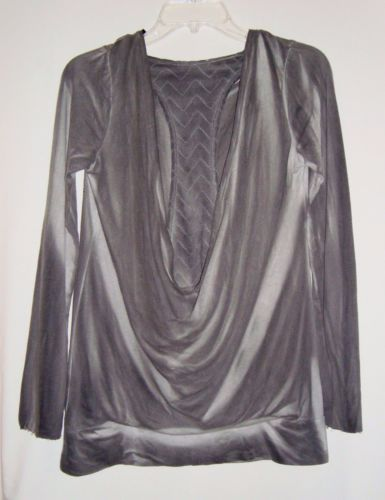 NEW-w-Tags-VOCAL-Gray-Embellished-Sublimated-Long-Sleeve-Size-Sm-Retail-55