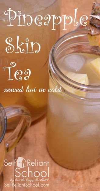 Step by step directions for making pineapple skin tea with ginger syrup and honey. Also step by step directions for making ginger syrup. #beselfreliant