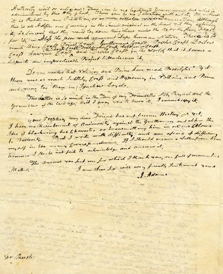 WallBuilders - Historical Documents - John Adams Letter to Benjamin Rush