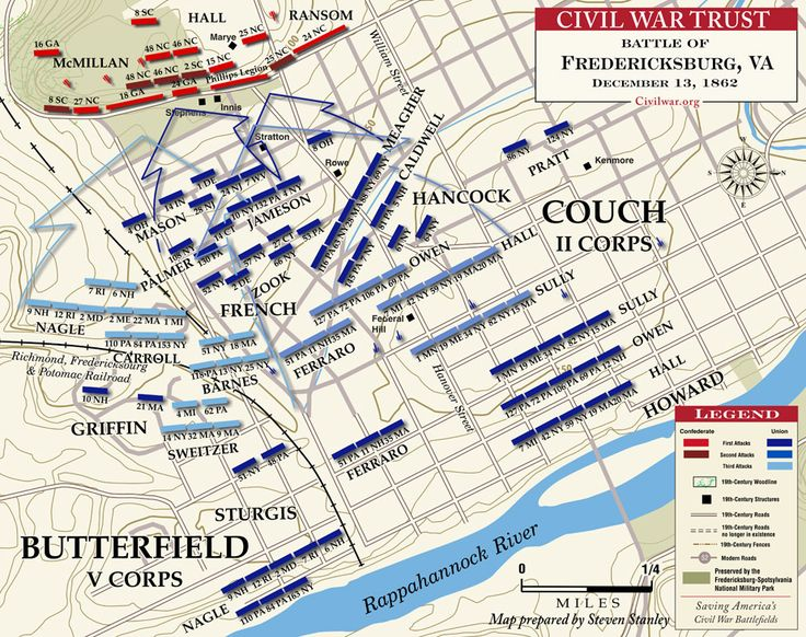 Battle of Fredericksburg, 13 DEC 1862, 150 years ago today - The Slaughter Before Marye's Heights