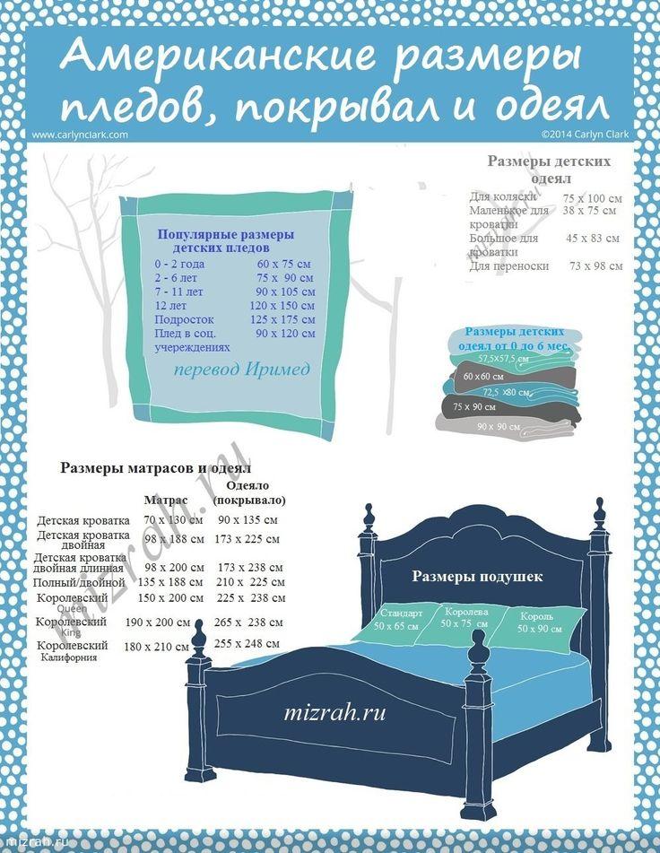 Стандартные размеры одеял и подушек США и России. Обсуждение на LiveInternet - Российский Сервис Онлайн-Дневников