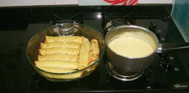 Panqueca! Essa massa de panqueca é deliciosa e super rápida de ser feita. Tenho certeza que toda sua família vai adorar!