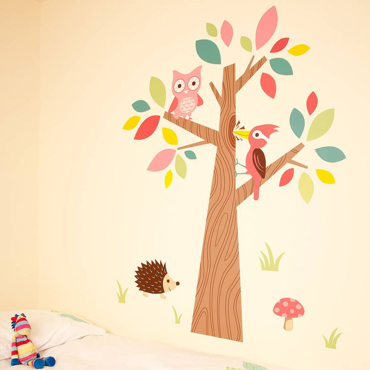forest friends wall stickers by the little blue owl | notonthehighstreet.com