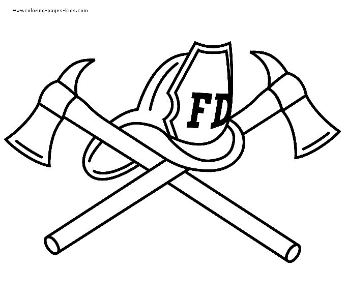 fireman coloring pages preschool shapes - photo#26