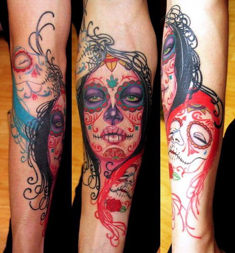 93 best mexican style sugar skull dia de los muertos for Mexican style tattoos
