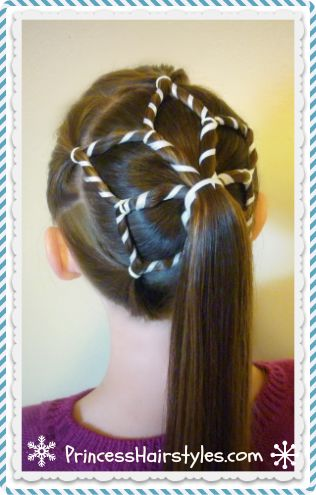 Snowflake ponytail