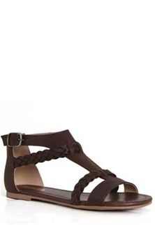 fae132fae72ccf Soda Shoes Cercie Braided Sandals for Women in Dark Brown CERCIE-DKBRN