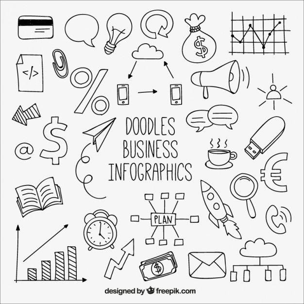 Nizza infografik mit zeichnungen Kostenlosen Vekto…