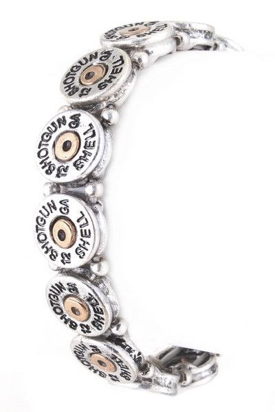 Shotgun shell 12 gauge stretch bracelet Use Promo Code Freeshipping for Free shipping on your orders!