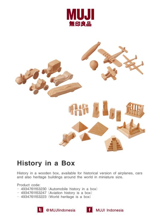 History in a box, available for historical version of airplanes, cars & world heritage buildings in miniature size.