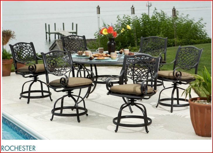 attractive outdoor swivel aluminium chairs here are some beautiful looking outdoor dining furniture sets u2013 chairs with big tables or small matching coffee