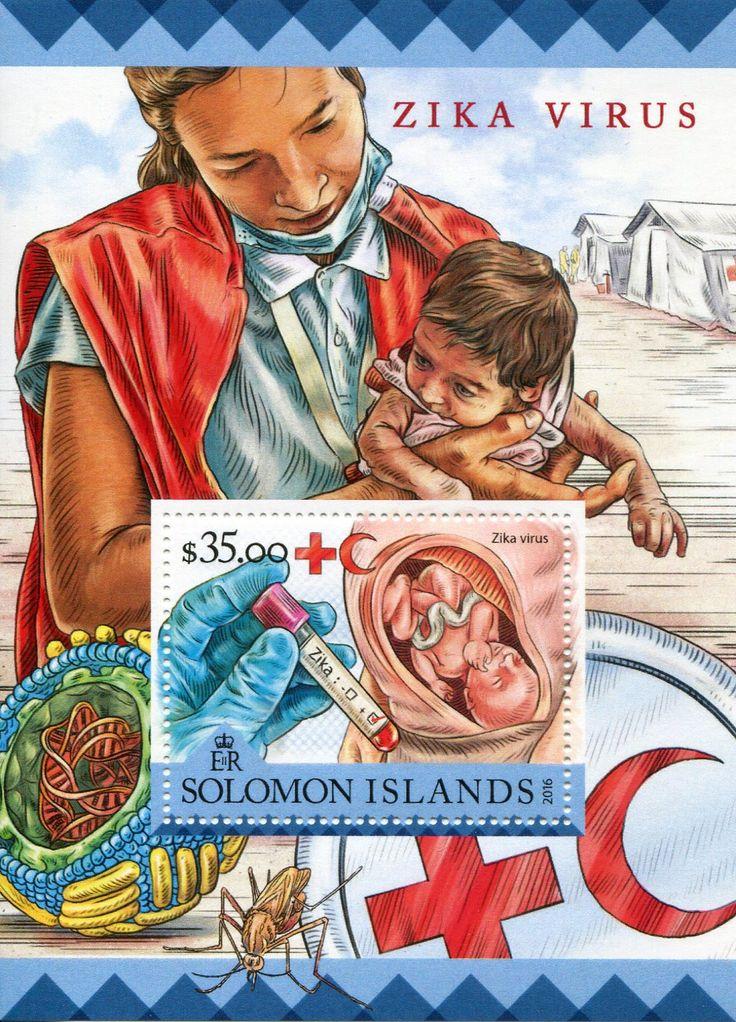 Isole Solomon 2016 Francobolli Medicina - Virus Zika - Medicine Stamps