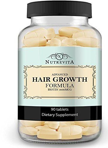Nutrevita Vitamins for Hair Growth 90 Tablets http://ultrahairssolution.com/how-to-grow-natural-hair-fast-and-healthy/hair-growth-products-that-work/nutrafol-hair-capsules-review/
