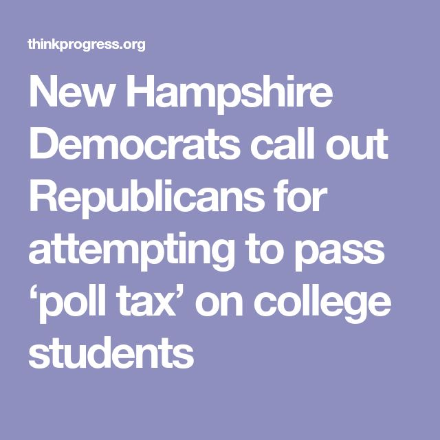 New Hampshire Democrats call out Republicans for attempting to pass 'poll tax' on college students