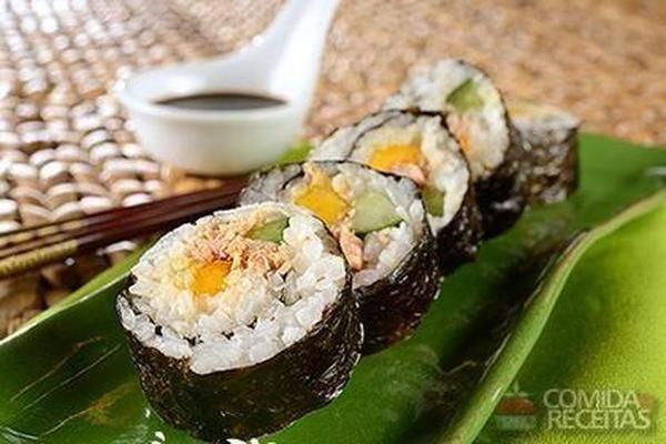 Receita de Sushi de atum - Comida e Receitas