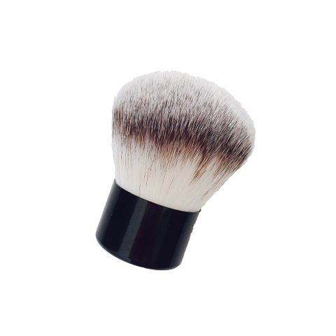 Vegan hair Kabuki brush is perfect for applying our mineral foundation powder