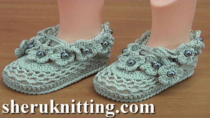 Crochet Flower Baby Booties  https://www.sheruknitting.com/crochet-tutorials/baby-shoes.html There are over 800 video tutorials of crochet and knitting in different techniques. Also, you can see unique authors' design in these tutorials only on a website at https://www.sheruknitting.com/  Enjoy all you get from a membership: - No advertising on all tutorials; - Valuable in different devices; - Step by step and detailed video tutorials; - New courses added every week