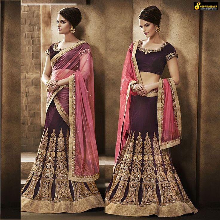 sari Indian Bollywood Designer Saree pink lehenga blouse Wedding bridal freeship #Handmade #Saree