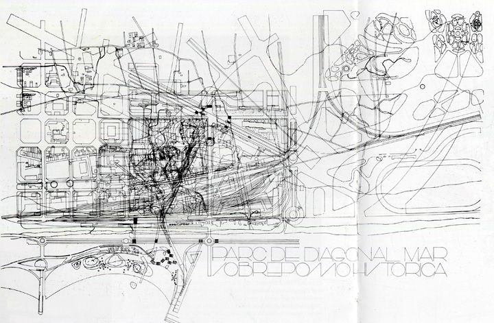 I like the layers in this site drawing by miralles