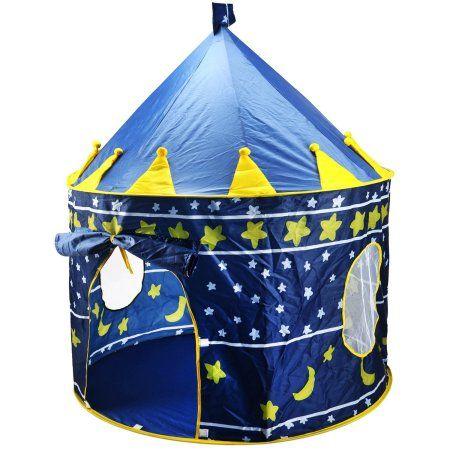 Children Play Tent Boys Girls Prince House Indoor Outdoor Blue Foldable Tent with Case by Creatov Image 1 of 6