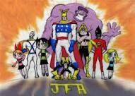 justice friends, blossom, Jim, buttercup, major glory, infragable krunk, monkey, valhallen,freakazoid, bubbles