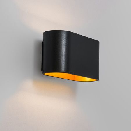 Wall Lamp Alone Black-Gold - Wall lights - Indoor lighting - lampandlight.co.uk