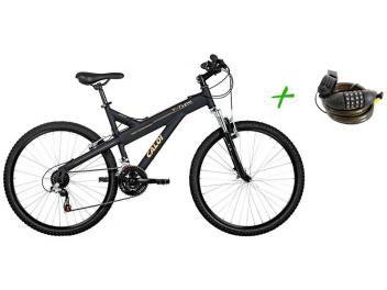 Bicicleta Caloi T-Type Aro 26 21 Marchas - Freio V-Brake + Cadeado com Segredo