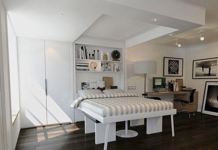 Les 20 meilleures id es de la cat gorie lit escamotable - Prix lit escamotable plafond ...