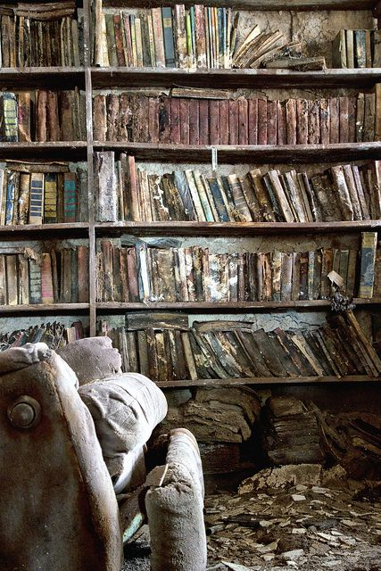 What if these books were not abandoned, but the child in the chair was reading the best book ever....again and again...