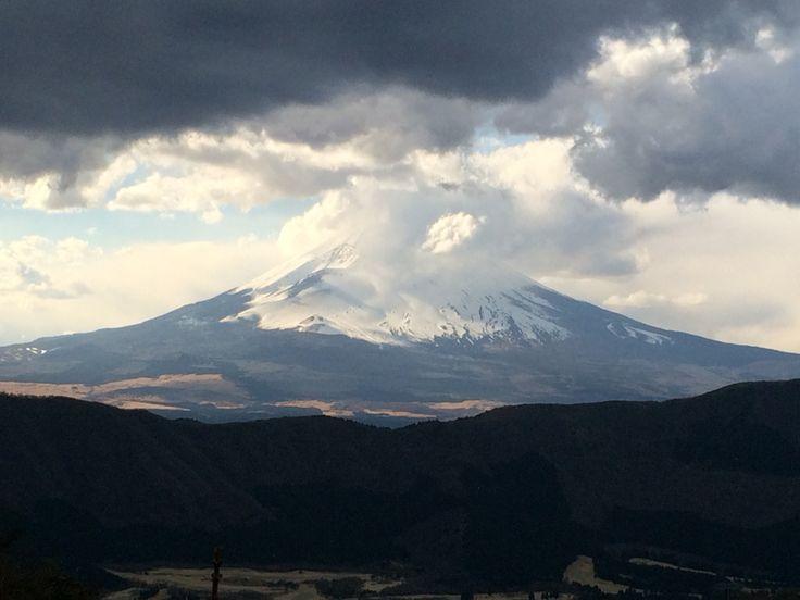 Mt. Fuji seen from Ōwakudani