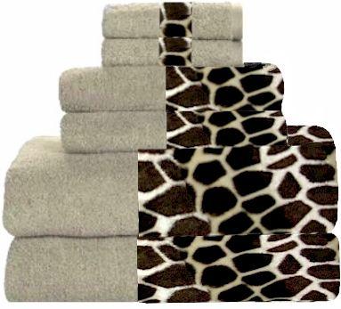 Giraffee U0026 Beige Animals Bordering Africa Bath Towels. $11.00   $27.00 SALE  $10.00   $24.00