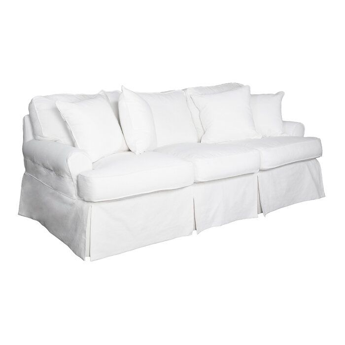 Rundle Slipcovered Sofa Cushions On