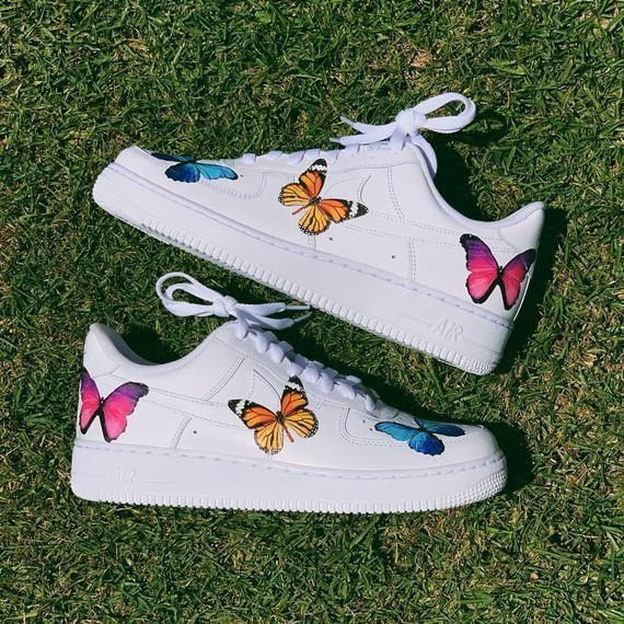 Custom Sneakers, Custom Nikes, Nike, Rainbow shoes