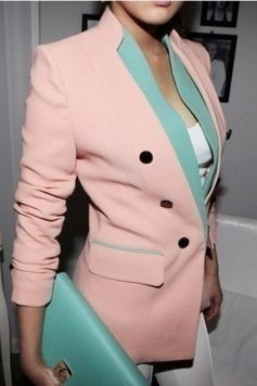 Pink and Blue Blazer <3